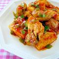 鶏肉と豆腐のチリソース炒め♪ by みぃさん
