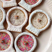 スノードームのシャカシャカアイシングクッキー
