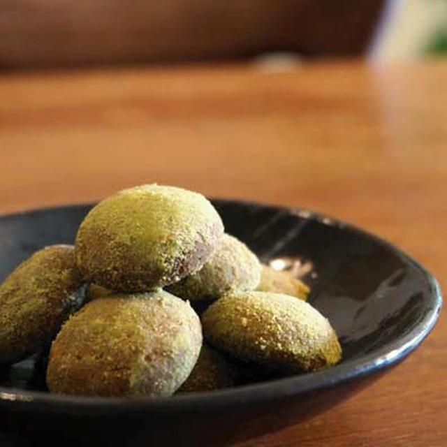 菜種油の【青きな粉クッキー】