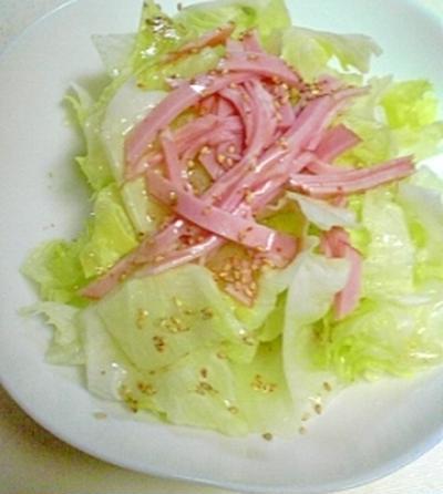 安く簡単においしいレタスサラダ