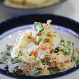 いつもと違う食感に♪「ポテトサラダ」を長芋で作ってみよう!