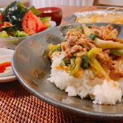 10分♡ご飯がススムすき焼き丼*夕食と大好きな産直店