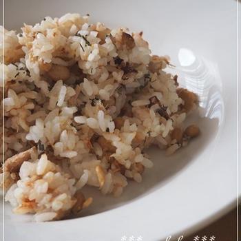 納豆バジルチャーハン