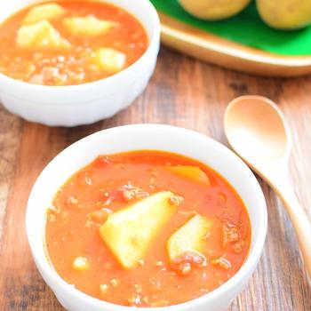 ミートソースのリメイク!じゃがいもスープのレシピ