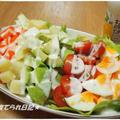 栄養たっぷり☆カラフルサラダ キューピーバターミルクランチドレッシングで