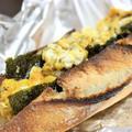 【レシピ】乾物と卵で♪ 海苔とスクランブルエッグのバゲットサンド