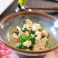 手づくりカッテージチーズで菜花と舞茸の白和え風♪ by はるさん
