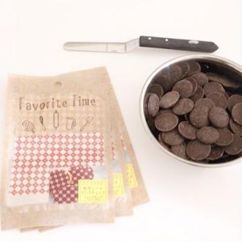 100円ショップの転写シートを使って、チョコのリボンの作り方