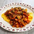 【オムレツ・ラタトゥイユ】夏野菜をたっぷり使ってラタトゥイユ。オムライスソースにしてみた。