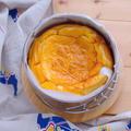 生クリームの代わりに豆腐を使うスフレ風チーズケーキ