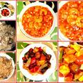 浅利の炊き込みご飯に酢豚とエビチリ