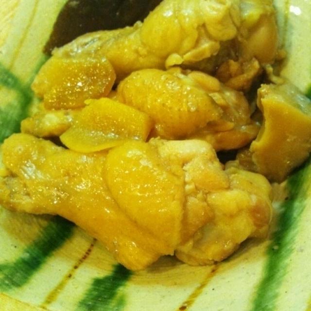 椎茸と手羽元の黒酢煮