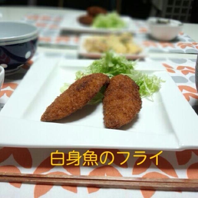 マーボー豆腐風 & 白身魚のフライ