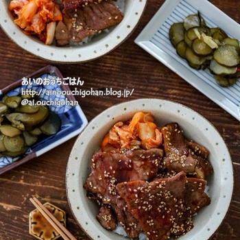 【包丁不要の丼レシピ】10分即だし!食材一つで大満足!即席焼肉丼