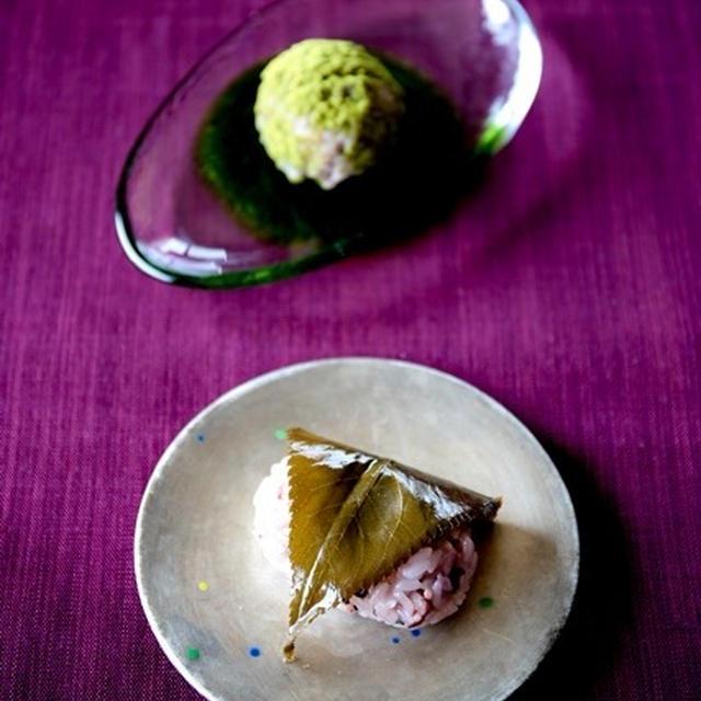 桜おはぎ 煎茶のおはぎ