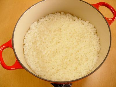 ル・クルーゼで基本のご飯(白米)炊き