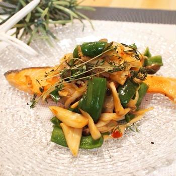 ふたつの調味料だけで作る鮭ときのこのチリソースと、シェフズライブキッチンに行った話。