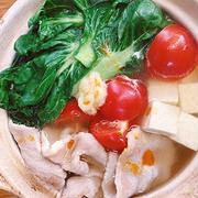 豚肉とターサイの鍋