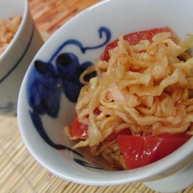 切り干し大根を完熟トマトで戻す♪ めちゃうま5分☆ 切り干し大根とトマトのサラダ