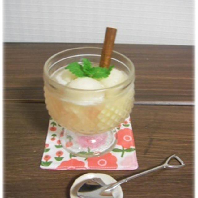 桃のサングリアデザート