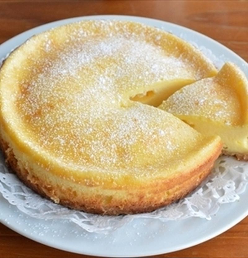 スライスチーズを使って焼く♪低コストチーズケーキ