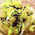 有機キャベツと塩昆布のサラダ