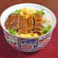 錦糸玉子と絹さやの3色のふっくら鰻丼