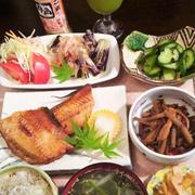 ■晩ご飯・和食【灰干しホッケの焼き魚と作り置き3品副菜で簡単!!】
