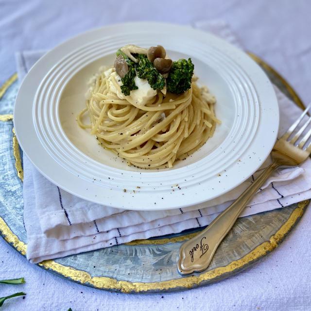 Veganレシピ。簡単ヴィーガン豆腐クリームパスタの作り方