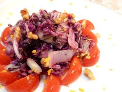 柚子の香り 赤はくさいとくるみののサラダ