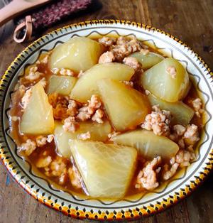 ♡フライパンde超簡単♡ひき肉と大根の和風とろみ煮♡【#時短#節約#鶏ひき肉#煮物】