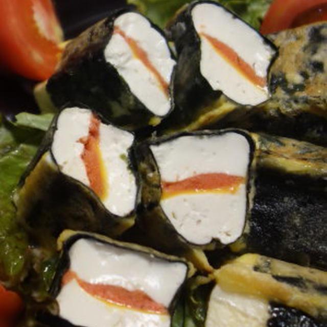 明太チーズサンド豆腐のピカタ