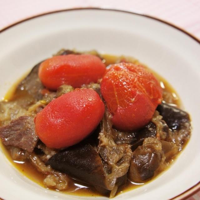 ゴロっとトマトで簡単♡茄子の洋風煮込み