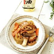 豚バラ肉と根菜のオーブン焼き