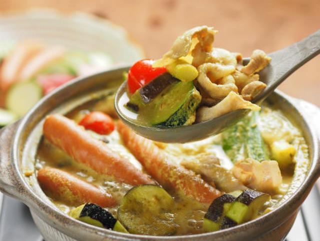 4. 夏野菜の豆乳カレー鍋