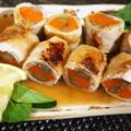 ■和のおかず【豚生姜焼き用で 根菜の八幡巻き餡かけ】