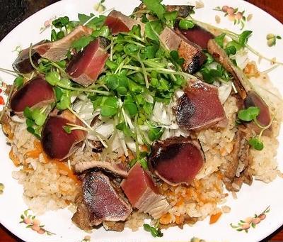 牛肉かつお飯&努努鶏