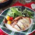簡単⭐staubで チキンとキヌアのトマト煮込み