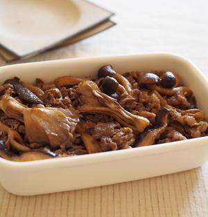 牛肉ときのこの山椒炒め(レシピ:荒井直子)