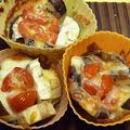 なすとトマトのプチグラタン☆お弁当にも!