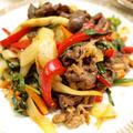 【韓国料理】「牛肉入りスタミナ野菜炒め」&わかめのチョレギサラダで晩ごはん。 by きちりーもんじゃさん