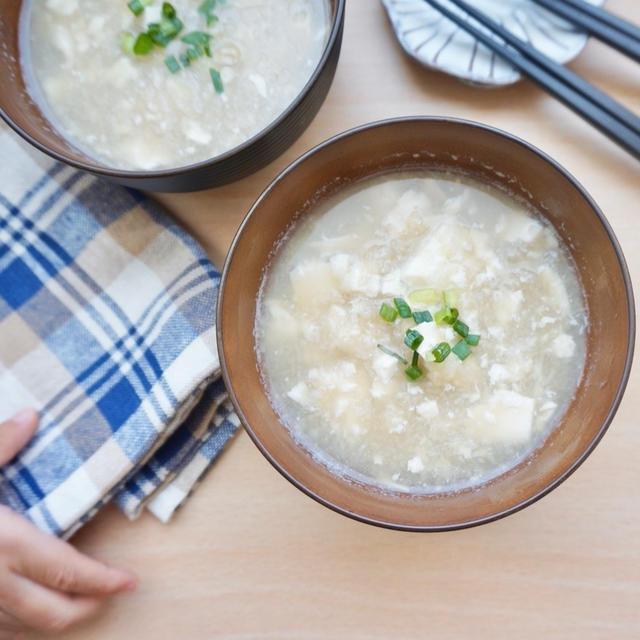 すりおろしれんこんと豆腐のおすまし#簡単#時短#和食