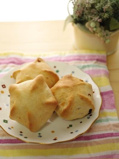 七夕の星型ドライフルーツパン☆一時間で焼けるパン