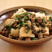 旦那さんからも大好評♡ニラたっぷり!豆腐とひき肉の甘みそ炒め