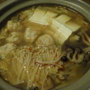 トムヤム鍋といかの南蛮漬け+小鉢5品で晩ごはん