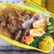 豚丼・しめじのポン酢炒めのお弁当