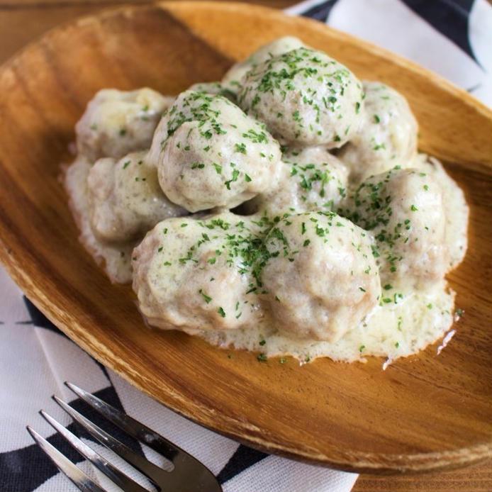チーズクリーム風味のミートボール