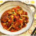簡単■サンマつみれとお豆のトマト煮込み■お料理教室人気レシピ♪(・ε・)
