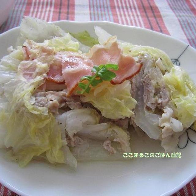 豚薄切り肉と白菜の重ね煮