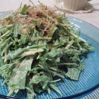 シャキシャキ水菜のたらこマヨサラダ